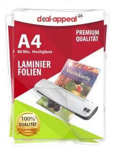 Deal Appeal Laminierfolien 80micron für A4